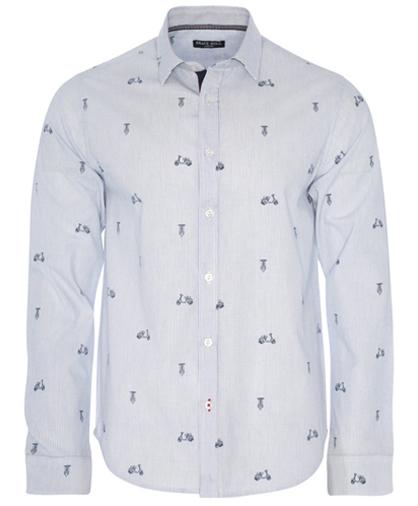 camisa a rayas vespa